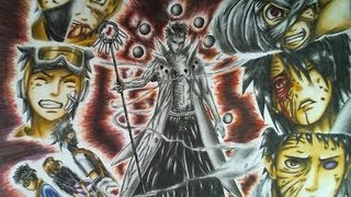Drawing Obito Uchiha Jinchuuriki - Victim of the Past, Threat of the Future (Sage of the Six Paths)