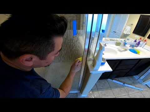 How to Frost Glass Shower Doors