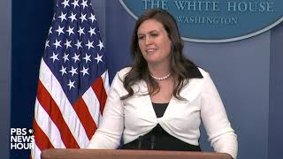 WATCH: Sarah Sanders' 'slip of the tongue' moment in the Mueller report