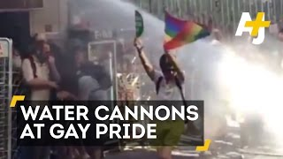 Istanbul Gay Pride Parade Met With Water Cannons, Rubber Bullets