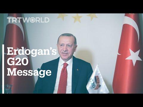 Turkey's President Erdogan's G20 Leaders' Virtual Summit Message