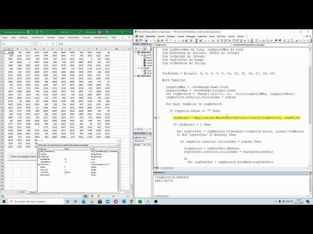 212: Excel-VBA: Doppelte Daten