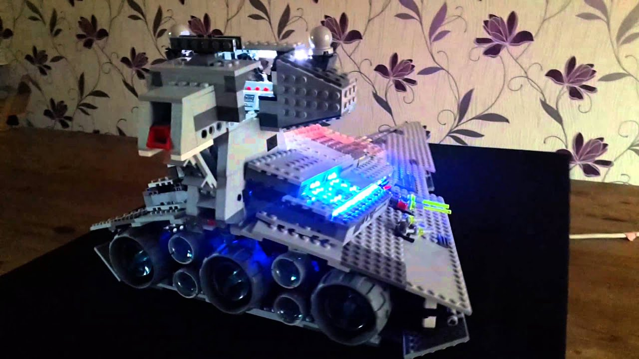 lego 6211 star wars destroyer imperial exlusiv mit led beleuchtung youtube. Black Bedroom Furniture Sets. Home Design Ideas