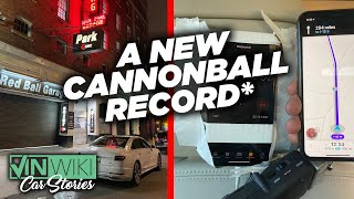 There is a new Cannonball record*