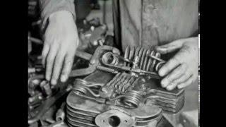 Norton prepare for the Isle of Man TT Races 1948