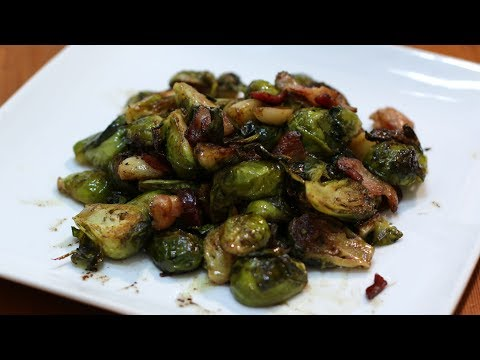 How To Cook Brussel Sprouts | Roasted Garlic And Bacon Brussel Sprouts Recipe