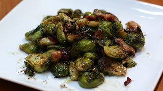 How to Cook Brussel Sprouts  Roasted Garlic and Bacon Brussel Sprouts Recipe