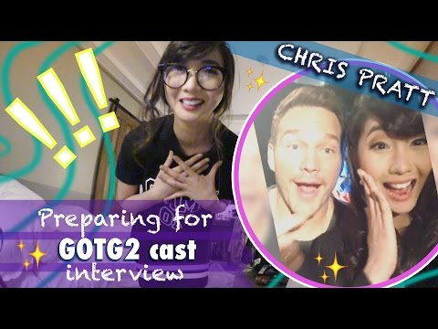 Preparing for CHRIS PRATT & GOTG2 cast interview - Alodia Vlog