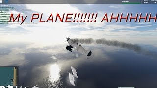 My Plane was smoking in mid air!?   Vehicle Simulator Roblox