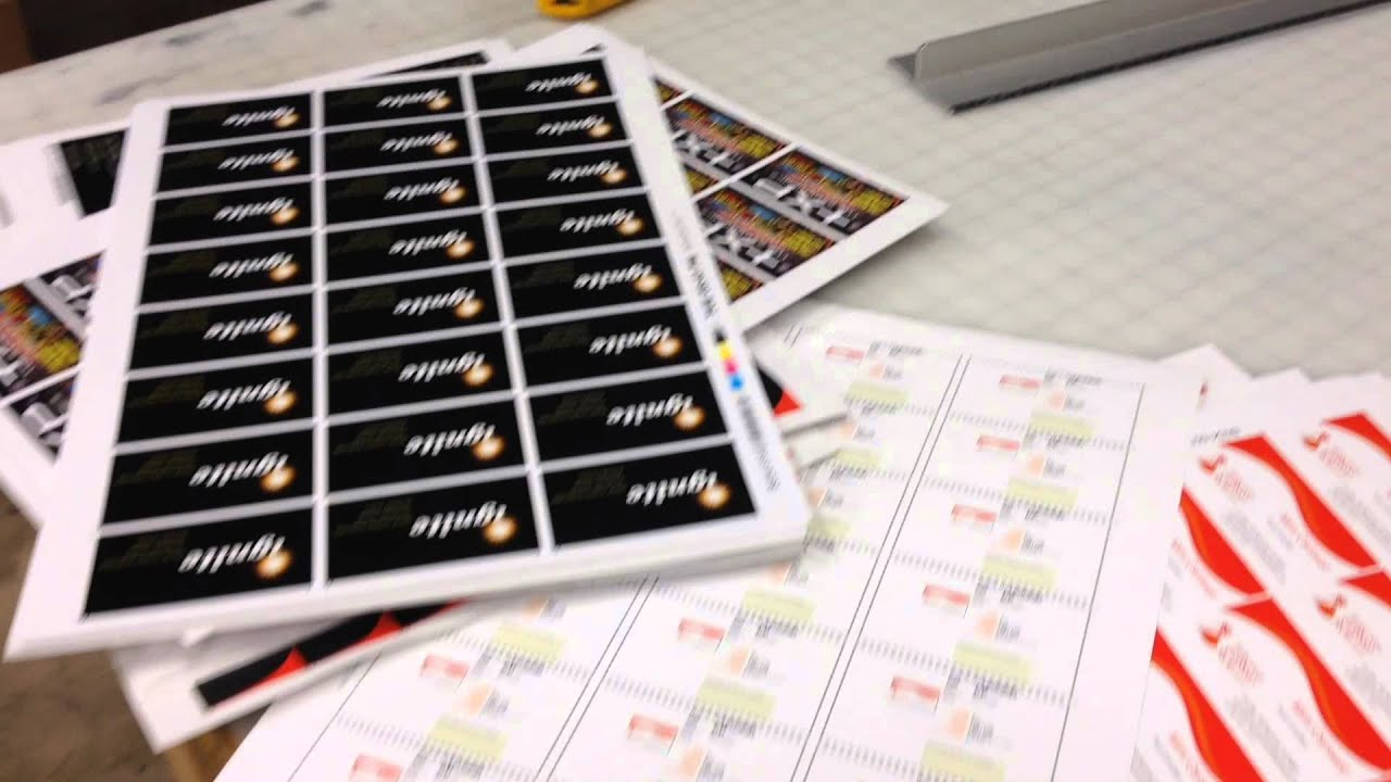 How To Cut Business Cards with Business Card Cutter - YouTube