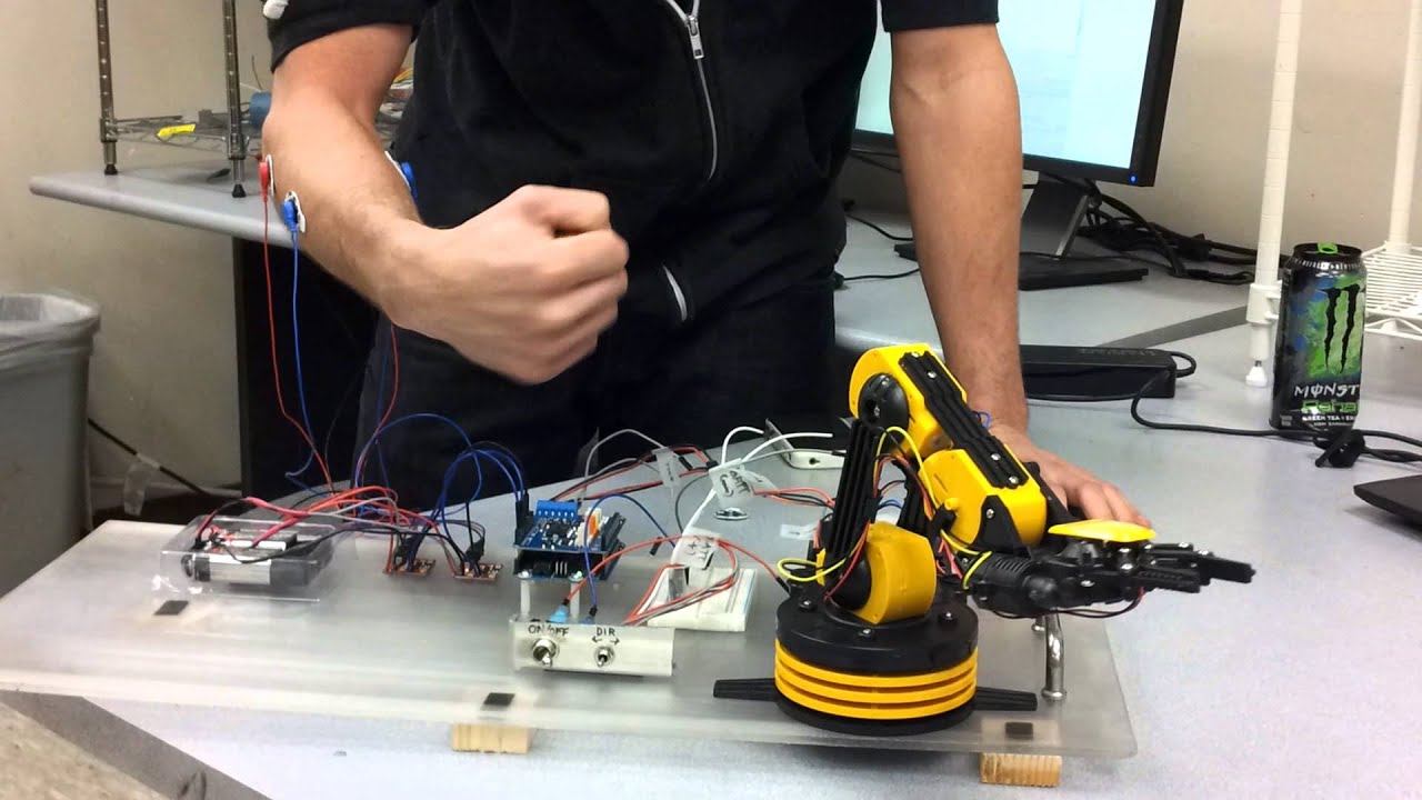 Owi robotic arm bi directional motor emg youtube Motor for robotic arm