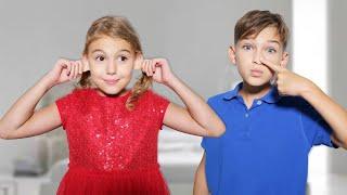 Cinq Enfants Tête, épaules, genoux et orteils - Chanson d'exercice pour les enfants