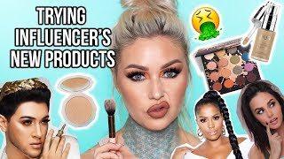 TRYING INFLUENCER\'S NEW PRODUCTS While HUNGOVER | Kristen Leanne