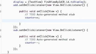 Android Application Development Tutorial - 10 - Using setText method for our button