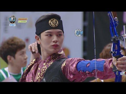 [ISAC] Yook Sung Jae,score 10 in archery, 아이돌스타 선수권대회 1부 20160209