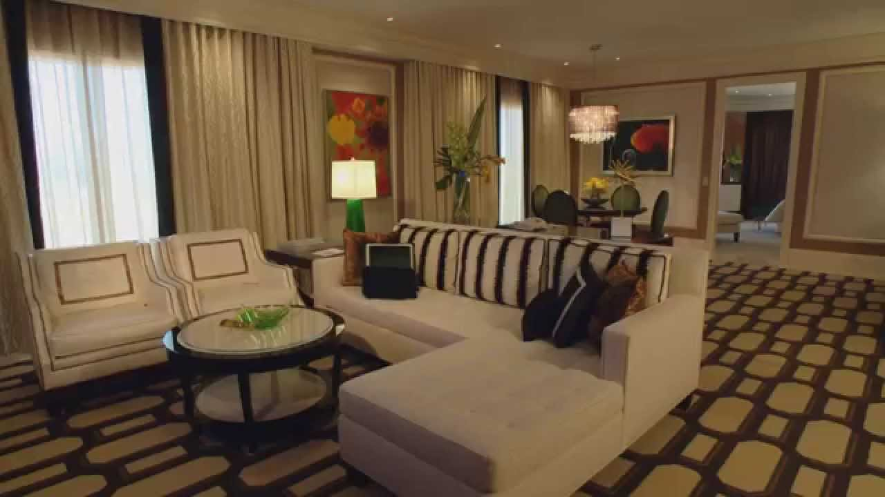 Bellagio Las Vegas Penthouse Living Room HD YouTube - Bellagio penthouse suite las vegas