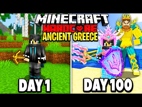 I Survived 100 Days in Ancient Greece on Minecraft.. Here's What Happened..
