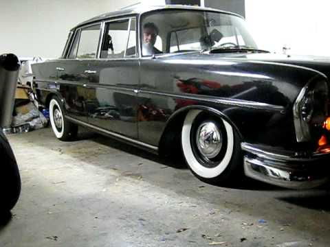 Bagged classic mercedes benz fintail youtube for Custom mercedes benz for sale