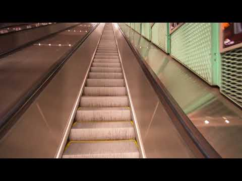 Sweden, Stockholm, subway ride from Gamla stan(Old Town) to Stadion , 3X elevator, 3X escalator
