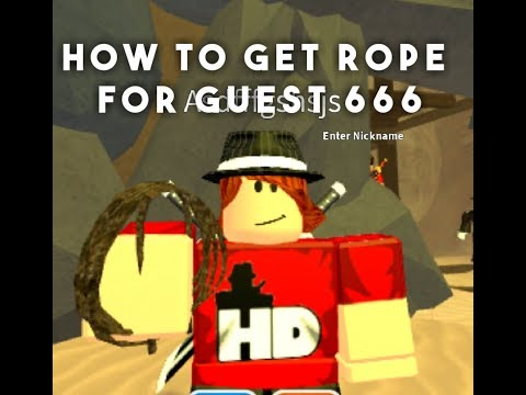 Getting The Rope And Unlocking Guest 666 | Roblox Guest World