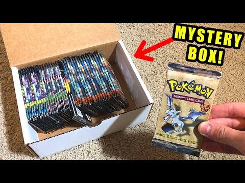 *VINTAGE POKEMON CARDS PACK INSIDE!* Opening a MYSTERY BOX with RARE Boosters!
