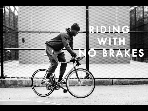 He Rides a Bike with No Brakes!