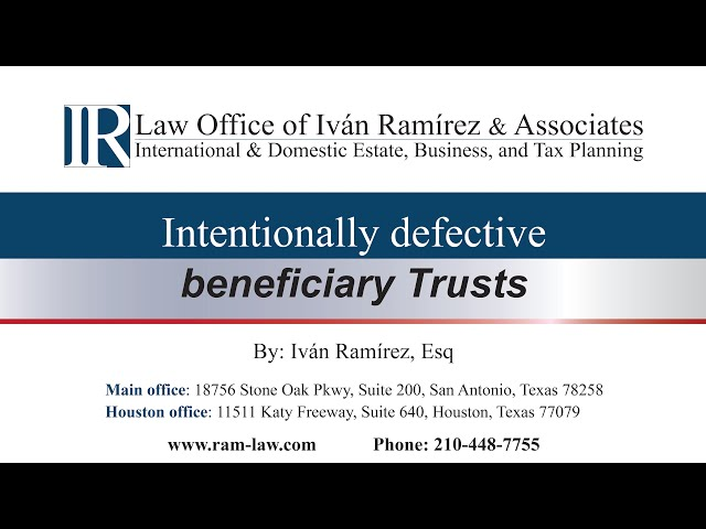 Intentionally Defective Beneficiary Trusts