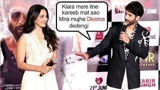 Shahid Kapoor makes FUN of Kiara Advani coming close at Kabir Singh Trailer launch
