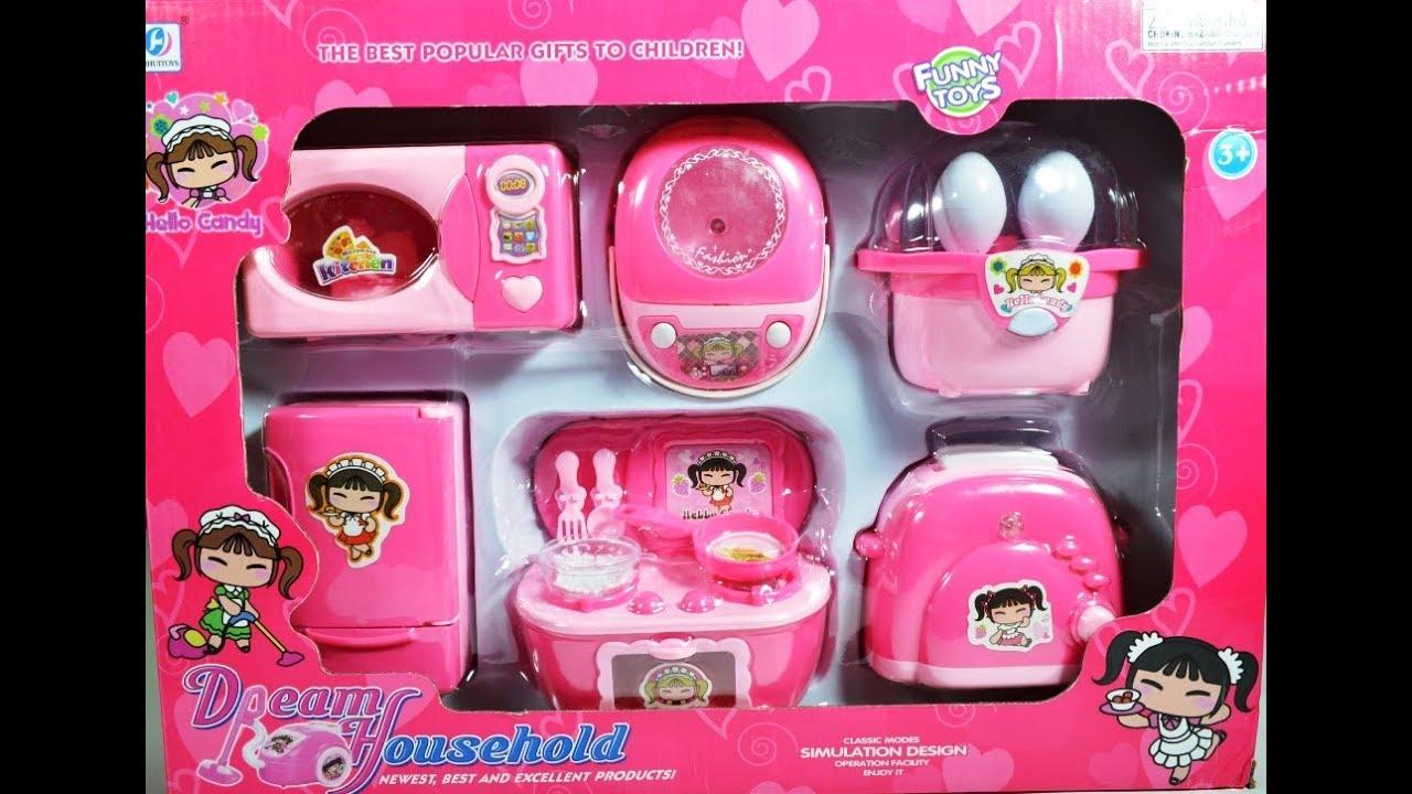 Barbie Doll House Kitchen Set Youtube