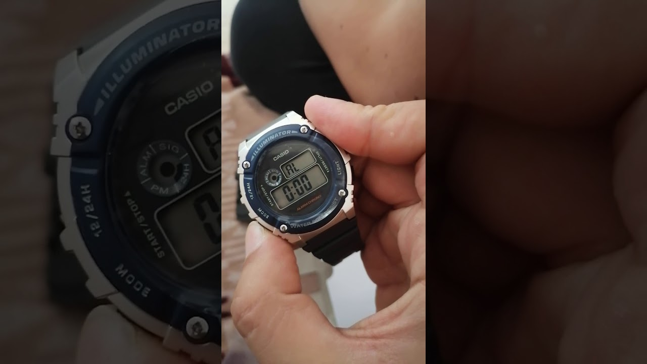 Adjust the time in wrist watch بدون كلام ازاي تظبط الساعة casio
