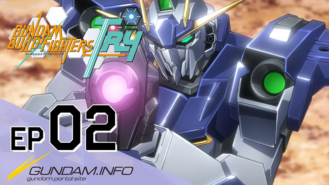Gundam build fighters try episode 2 team up try fighters for Domon kasshu build fighters try