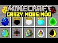 Minecraft CRAZY MOBS MOD! | FIGHT AGAINST DEADLY MOBS WITH ABILITIES! | Modded Mini-Game