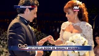 Revisa todo el glamour de la boda de Magaly Medina