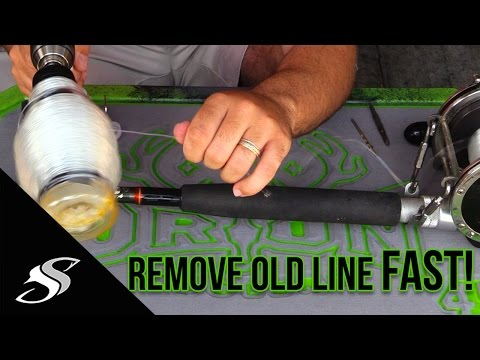 How To Remove Old Fishing Line Fast - Tackle Tip!