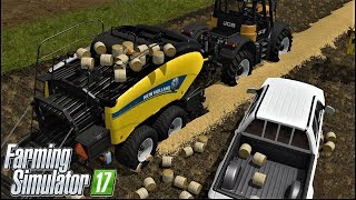 Farming Simulator 17| VERY VERY VERY SMALL ROUND BALING IN GOLDCREST VALLEY