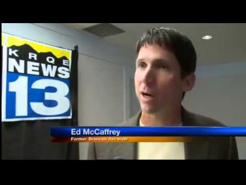 Ed McCaffrey helps the homeless