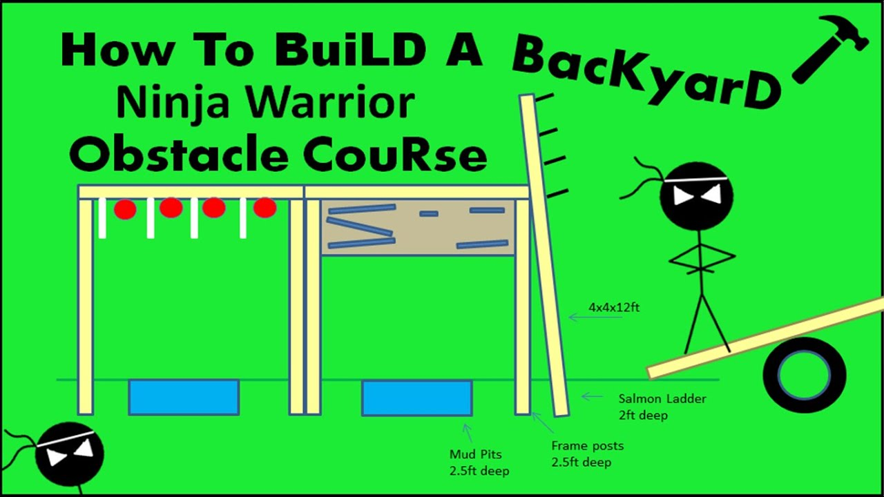 How to build a ninja warrior obstacle course diy youtube for How to make a blueprint online