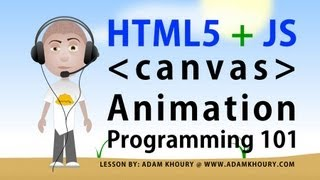 html5 canvas animation basics tutorial for beginners javascript programming lesson