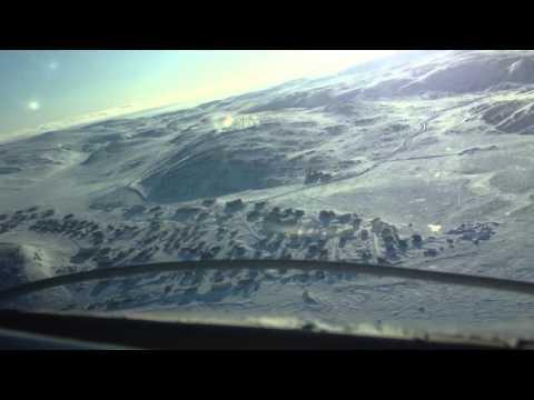 Air Inuit DH8 Dash8 Landing In Kangiqsujuaq (Wakeham Bay), Nunavik