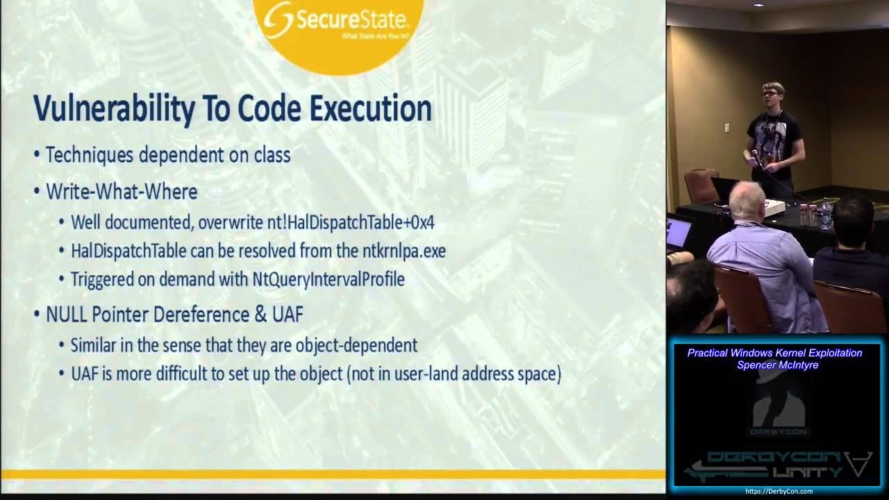 Practical Windows Kernel Exploitation - Spencer McIntyre
