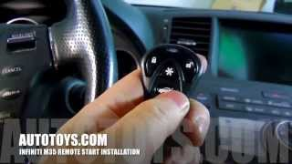 Infiniti M35 Remote Start with Avital and iDatalink (AutoToys.com)