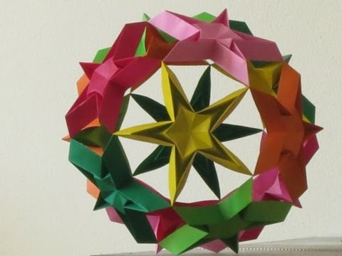 origami modular kusudama starball tutorial