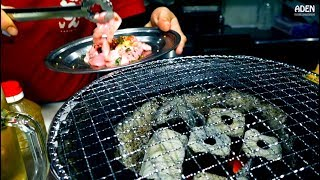 Pork Uterus BBQ - Yakiniku in Japan