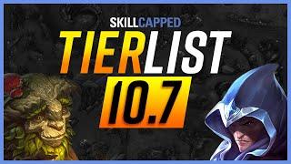 NEW Patch 10.7 TIER LIST - League of Legends Guide