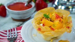 Cristina Ferrare's Phyllo Dessert Cup With Fresh Peaches, Greek Yogurt And Honey