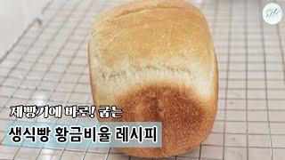 (제빵기가 다 알아서 구워주는) 생식빵 황금비율 레시…