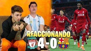HINCHAS DEL BARÇA REACCIONAN AL LIVERPOOL 4 - 0 BARÇA *acabamos llorando*