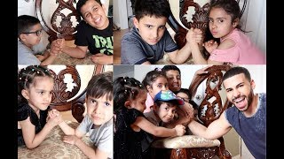 EPIC FAMILY ARM WRESTLING MATCH!! *gone wrong*