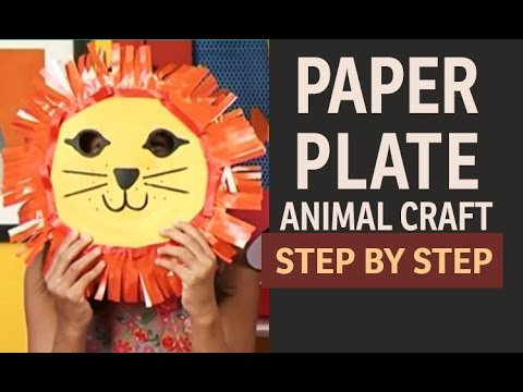 How to make Lion Paper Plate PARTY MASKS - \