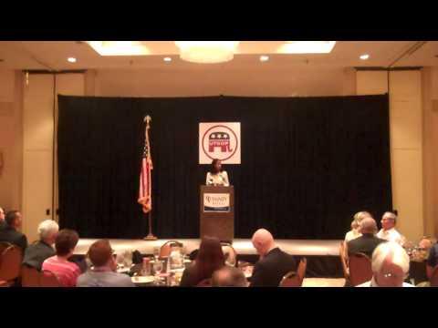 Mia Love speaks before the Utah delegation
